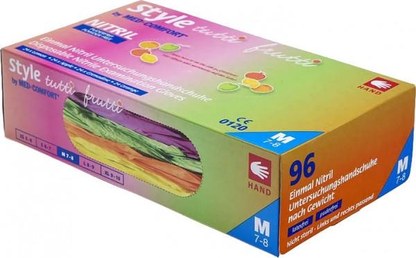 STYLE TUTTI-FRUTTI Nitril-Handschuhe, Box à 96 Stück