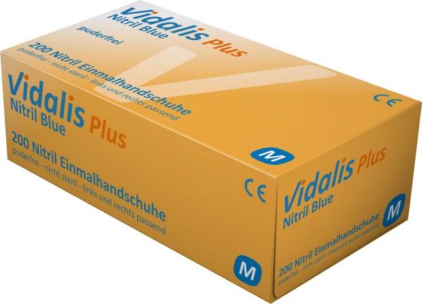 VIDALIS Nitril-Handschuhe puderfrei, blau, Box à 200 Stück