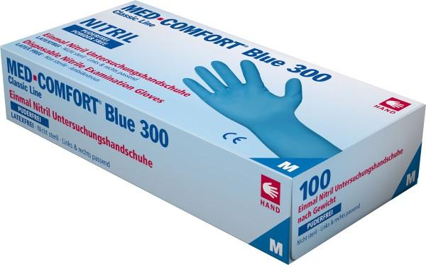 MED-COMFORT BLUE 300 Nitril-Handschuhe, Box à 100 Stück