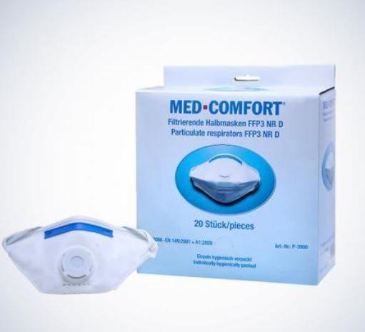 MED-COMFORT filtrierende Halbmaske FFP3D mit Ventil, 1 Stück