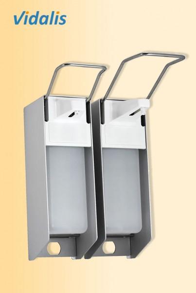 Wandspender Metall für 500-ml Flaschen, kurzer Armhebel, mit Kunststoffpumpe, 1 Stück