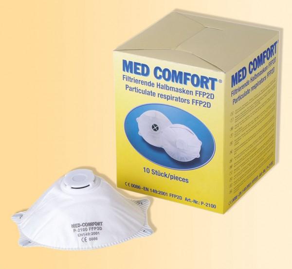 MED-COMFORT filtrierende Halbmaske FFP2D mit Ventil, 1 Stück