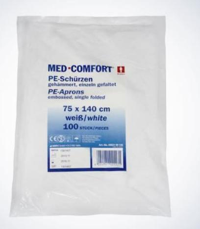 MED-COMFORT PE-Einwegschürzen light/Plus - Beutel à 100 Stück