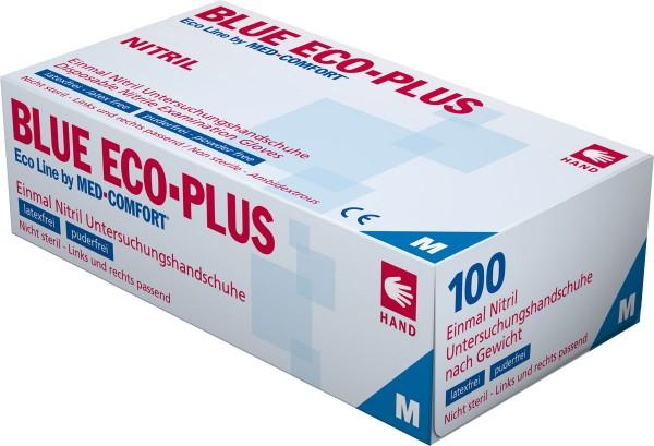 BLUE ECO-PLUS Nitril-Handschuhe blau, Box à 100 Stück