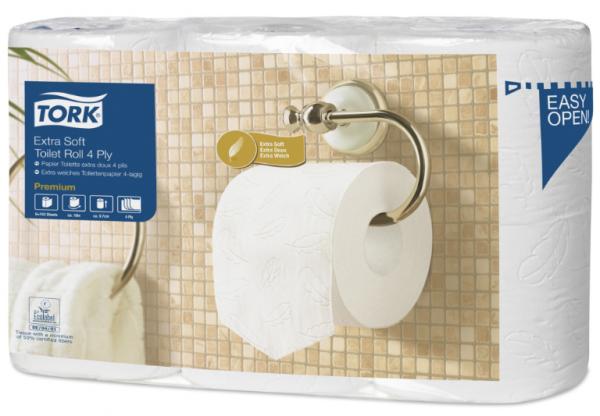 Tork Toilettenpapier extra weich hochweiß 150 Blatt 4-lagig