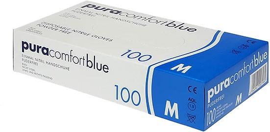 PURA Comfort Blue Nitrilhandschuhe, Box à 100 Stück