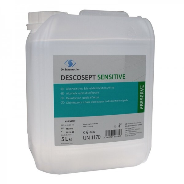 DESCOSEPT Sensitive 5-Liter Schnelldesinfektion, 1 Kanister