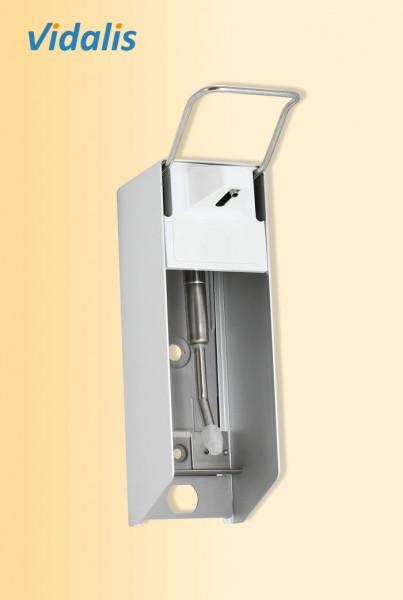 Wandspender Metall für 500-ml Flaschen, kurzer Armhebel, mit Edelstahlpumpe, 1 Stück