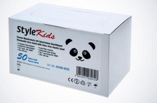 Mundschutz STYLE - Kids, Weiß