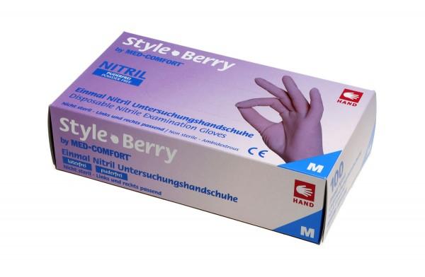 STYLE BERRY Nitril-Handschuhe violett, Box à 100 Stück