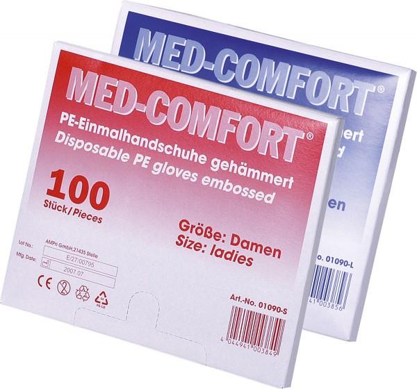 MED-COMFORT PE-Handschuhe gehämmert, Dispenser à 100 Stück