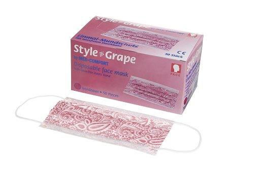 Mundschutz Style Grape 3-lagig, Box à 50 Stück