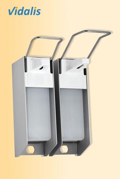 Wandspender Metall für 1000-ml Flaschen, kurzer Armhebel, mit Kunststoffpumpe, 1 Stück
