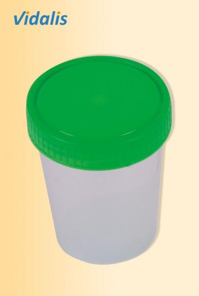 Urinprobenbecher 125-ml, graduiert mit Schraubdeckel, Karton à 500 Stück