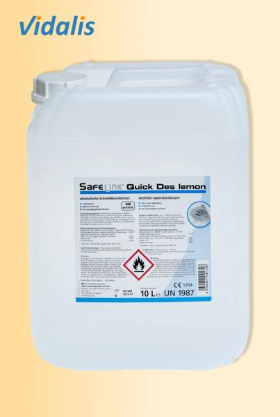 "Safeline ""Quick Des - N"", Schnelldesinfektion 10 Liter LEMON"