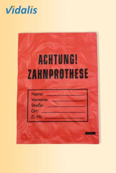 Zahnprothesenbeutel aus LDPE, rot, Beutel à 100 Stück
