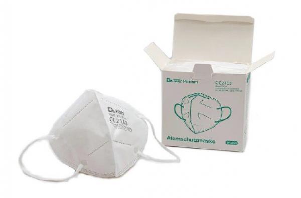 FFP2 Filtrierende Halbmaske mit Ohrbändern ++nur als Box++