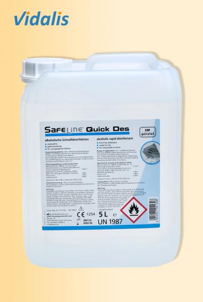 """Safeline """"Quick Des - N"""", Schnelldesinfektion 5 Liter"""