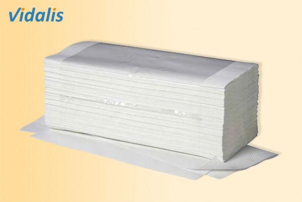 Falthandtücher Ideal, 25 x 23 cm, 1-lagig, hochweiss, Karton à 5000 Blatt