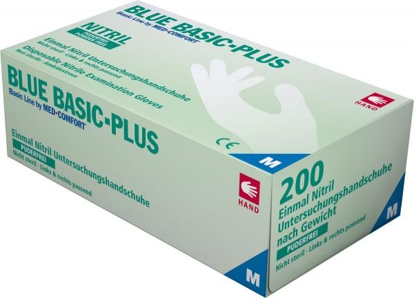 BLUE BASIC PLUS Nitril-Handschuhe blau, Box à 200 Stück