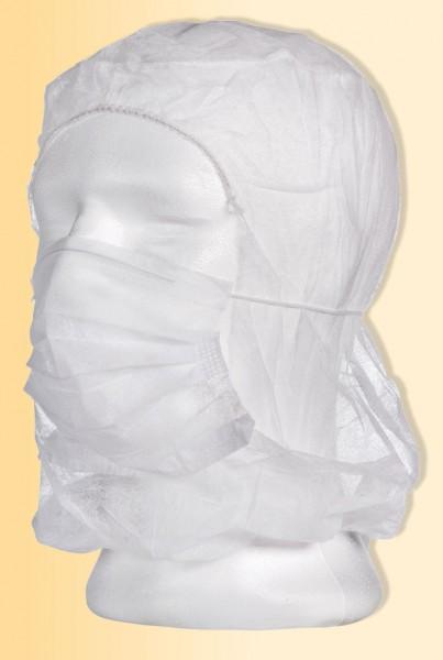 MED-COMFORT Astronautenhauben mit Mundschutz, Beutel à 100 Stück