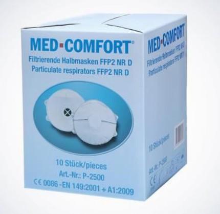 Med-Comfort Filtrierende Halbmaske FFP2D - mit Ventil ++NUR als Box++