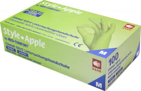 STYLE APPLE Nitril-Handschuhe grün, Box à 100 Stück