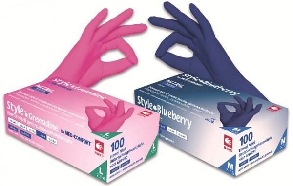 STYLE BLUEBERRY Nitril-Handschuhe dunkelblau, Box à 100 Stück