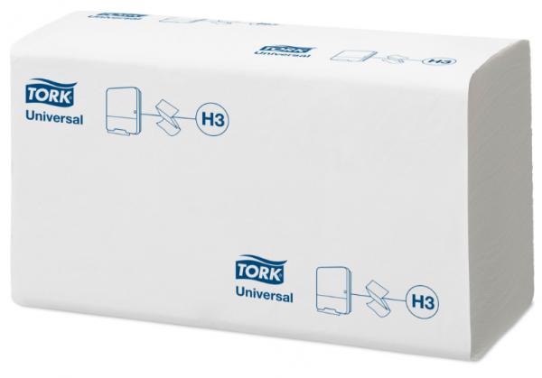Tork Universal Handtuchpapier 23x23cm hochweiß, ZZ-Falzung