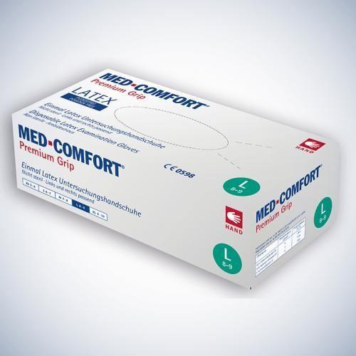 MED COMFORT PREMIUM GRIP Latex - Untersuchungshandschuh puderfrei - weiß