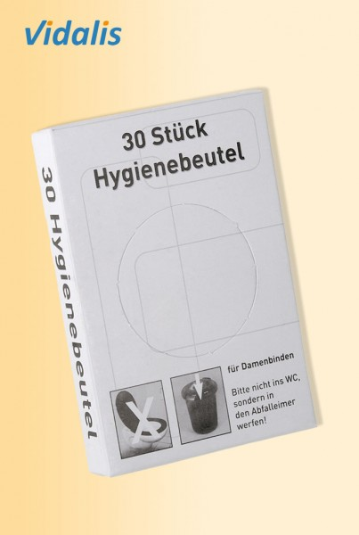 PE-Hygienebeutel bedruckt, Box à 30 Stück