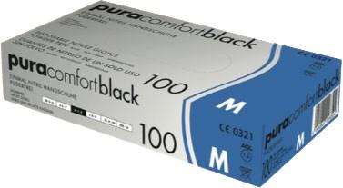 PURA Comfort Black Nitrilhandschuhe, Box à 100 Stück