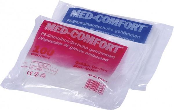 MED-COMFORT PE-Handschuhe gehämmert, Btl. à 100 Stück