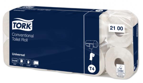Tork Toilettenpapier weich naturweiß 250 Blatt 2-lagig