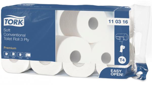 Tork Toilettenpapier weich hochweiß 250 Blatt 3-lagig