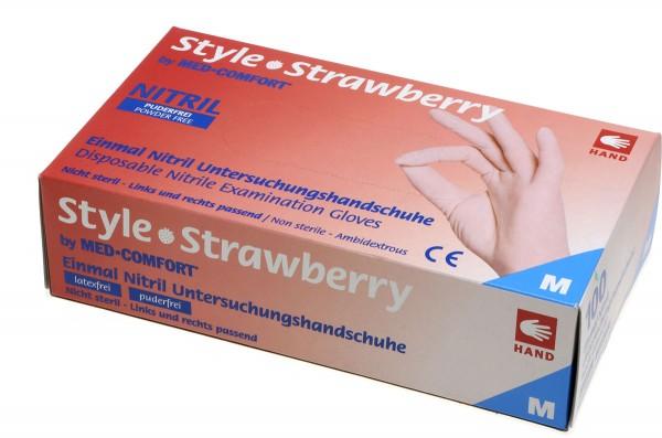 STYLE STRAWBERRY Nitril-Handschuhe pink, Box à 100 Stück