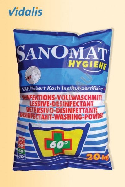 SANOMAT Hygiene 20-kg Desinfektions-Vollwaschmittel, 1 Sack